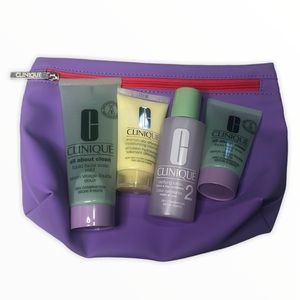 Clinique Skin Care Bundle Face Wash Toner Cream